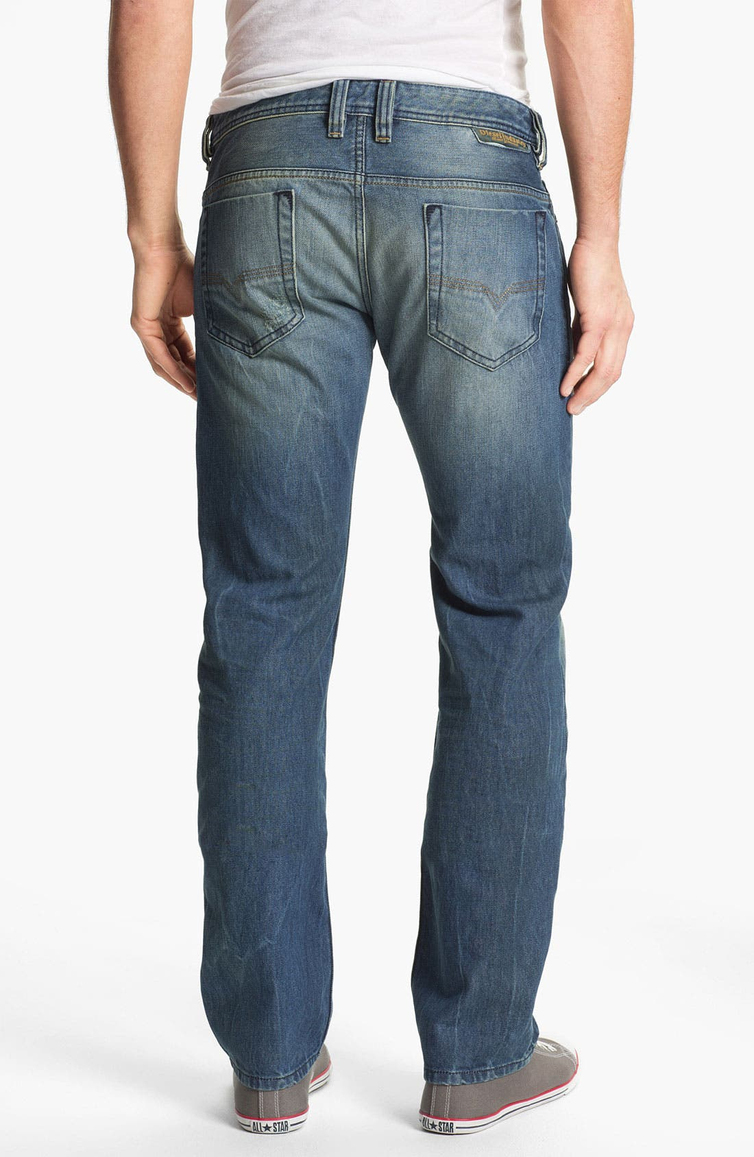 Alternate Image 2  - DIESEL® 'Safado' Slim Straight Leg Jeans (0075I) (Online Only)
