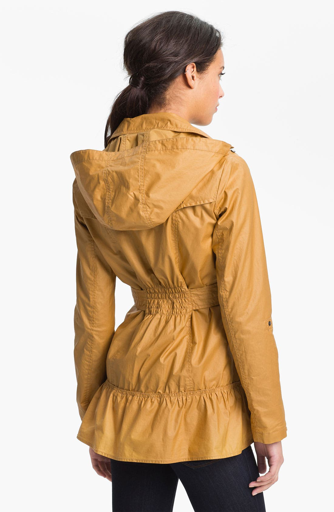 Alternate Image 3  - Buffalo by David Bitton Ruffle Hem Trench Coat (Online Only)