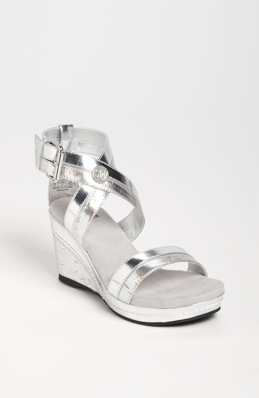 Main Image - Stuart Weitzman 'Alabaster' Sandal (Little Kid & Big Kid)