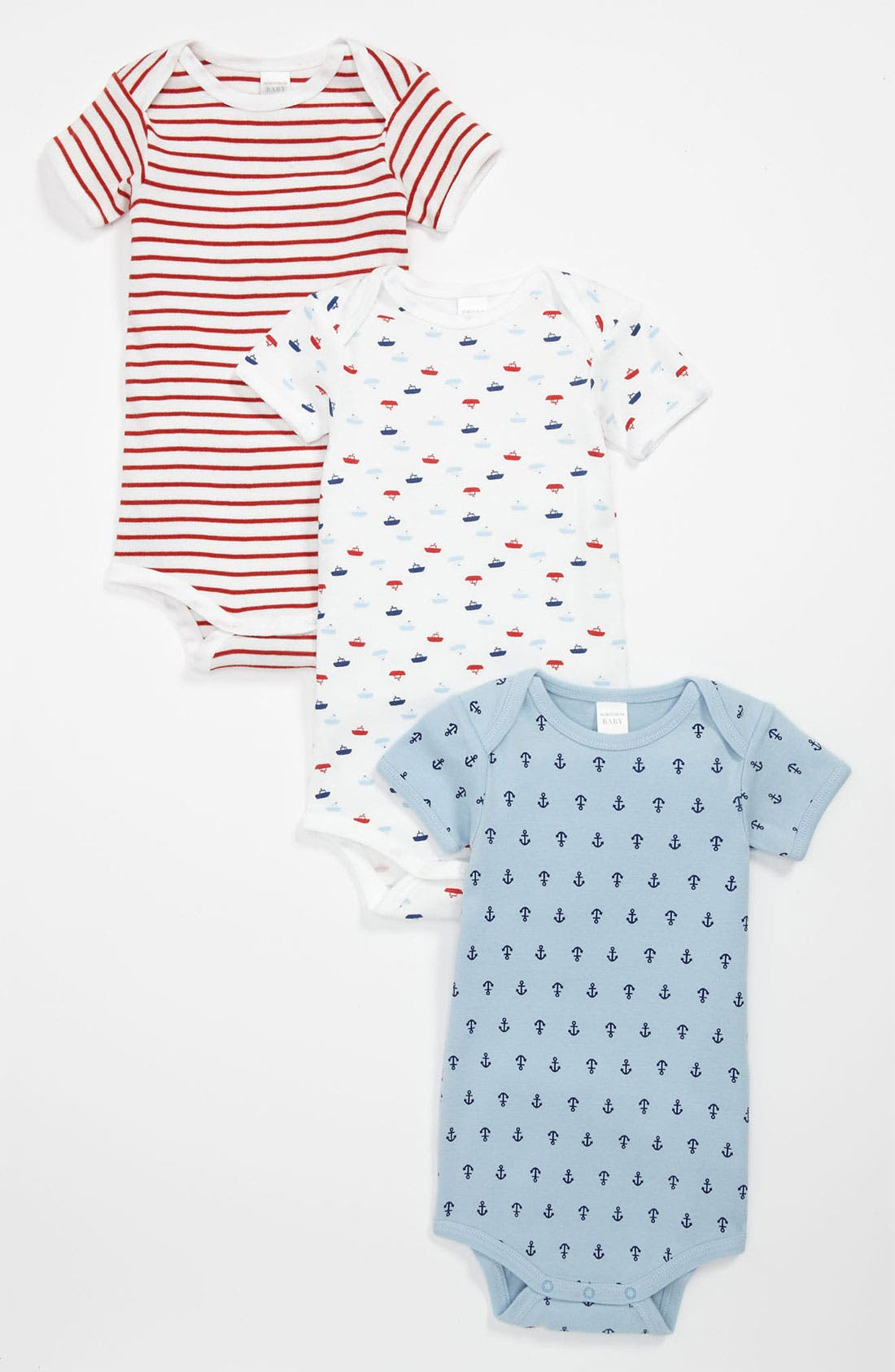 Alternate Image 1 Selected - Nordstrom Baby Bodysuit (3-Pack) (Baby)