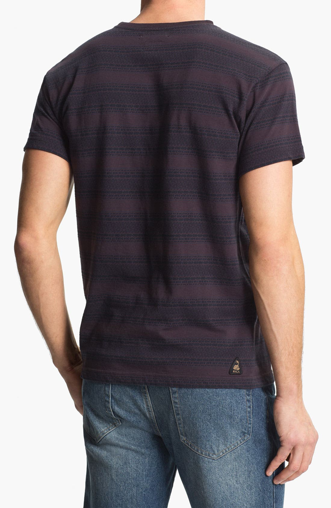 Alternate Image 2  - RVCA 'Shaman' Stripe Crewneck T-Shirt