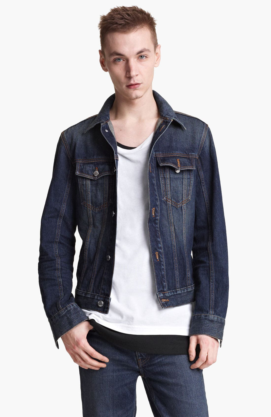 Alternate Image 1 Selected - BLK DNM 'Jeans Jacket 5' Stonewashed Denim Jacket
