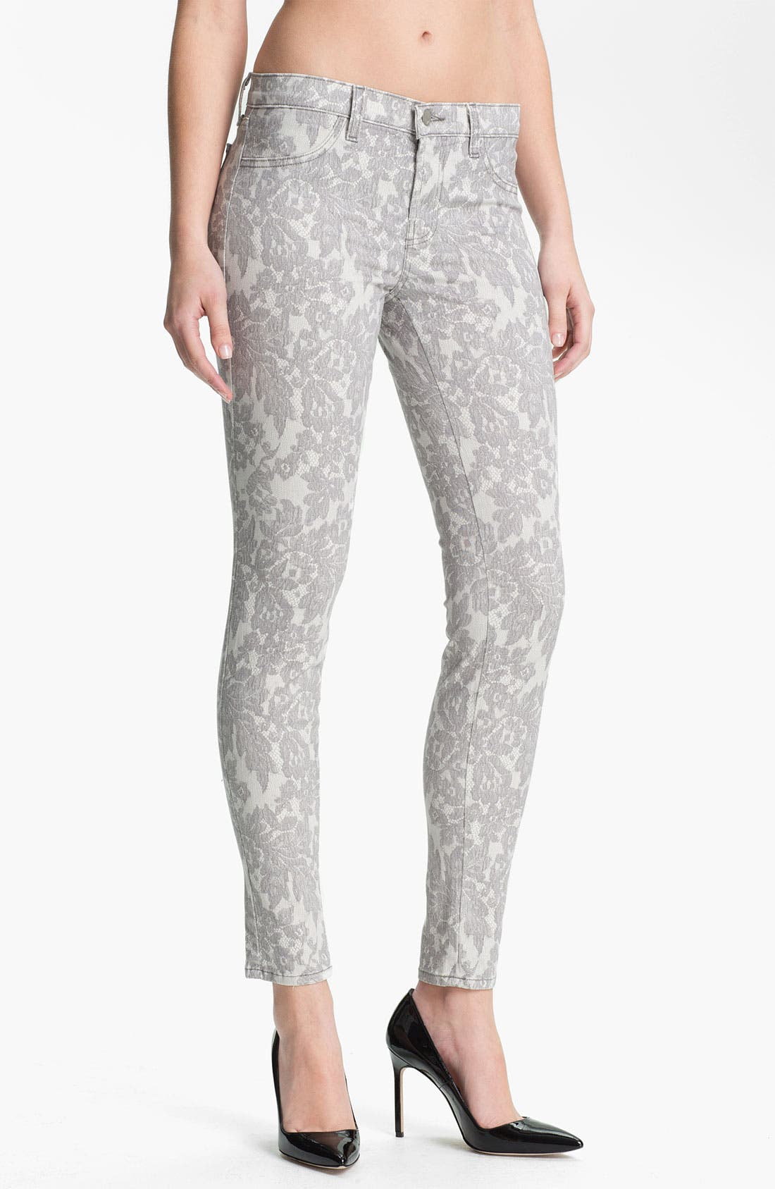 Main Image - J Brand Print Skinny Leg Jeans (All Over Lace)