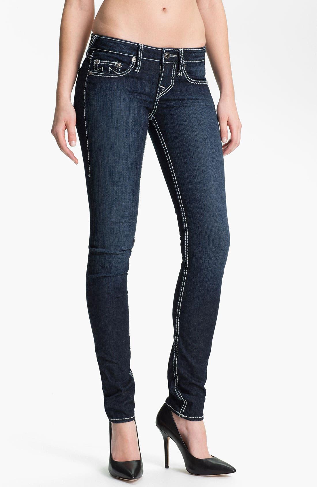 Alternate Image 1 Selected - True Religion Brand Jeans 'Stella' Skinny Stretch Jeans (Lonestar)