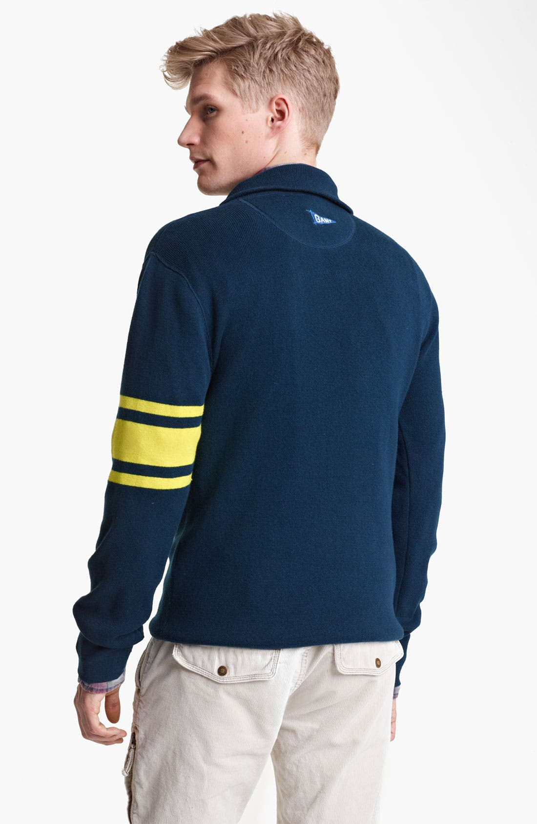 Alternate Image 2  - Gant by Michael Bastian Quarter Zip Knit Pullover