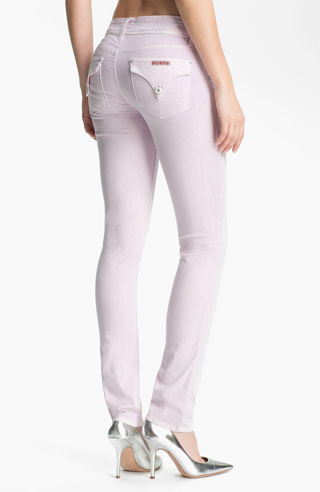 Alternate Image 2  - Hudson Jeans Skinny Stretch Jeans (Lilac)