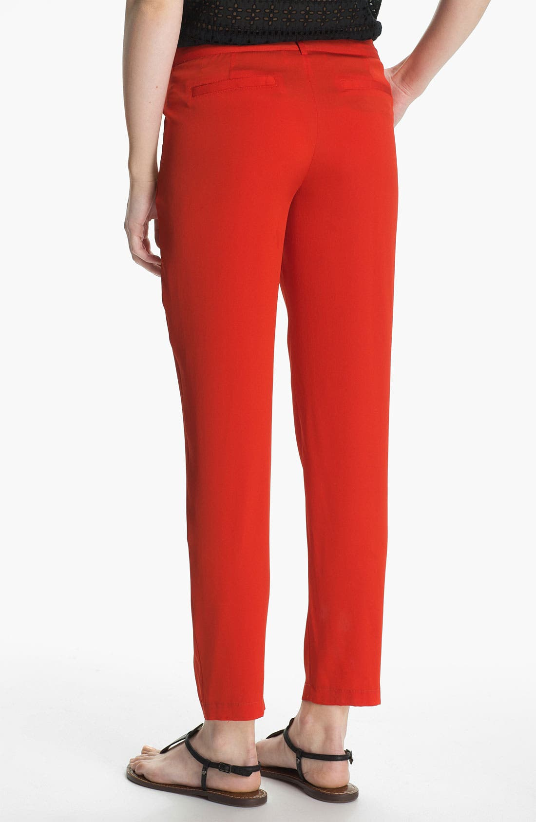 Alternate Image 2  - Joie 'Davidson' Crop Stretch Silk Pants
