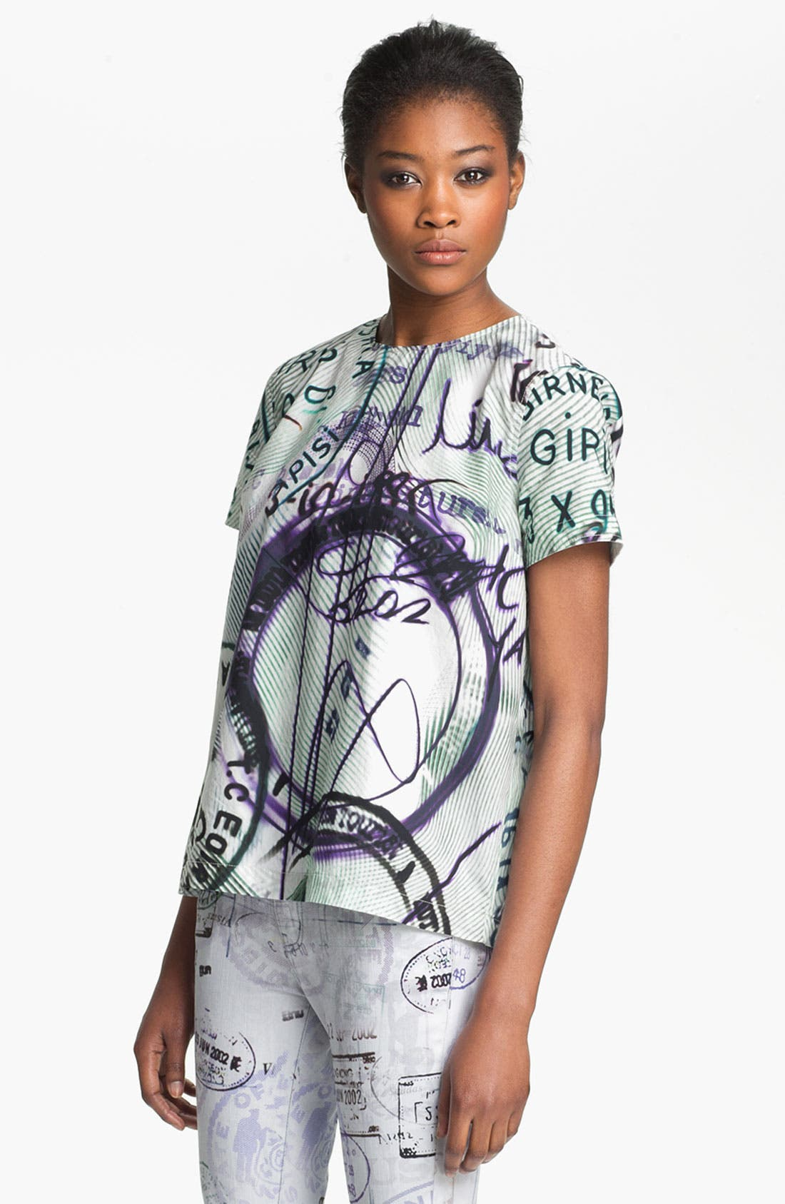 Alternate Image 1 Selected - Mary Katrantzou Current/Elliott 'The Boarding' Print Top