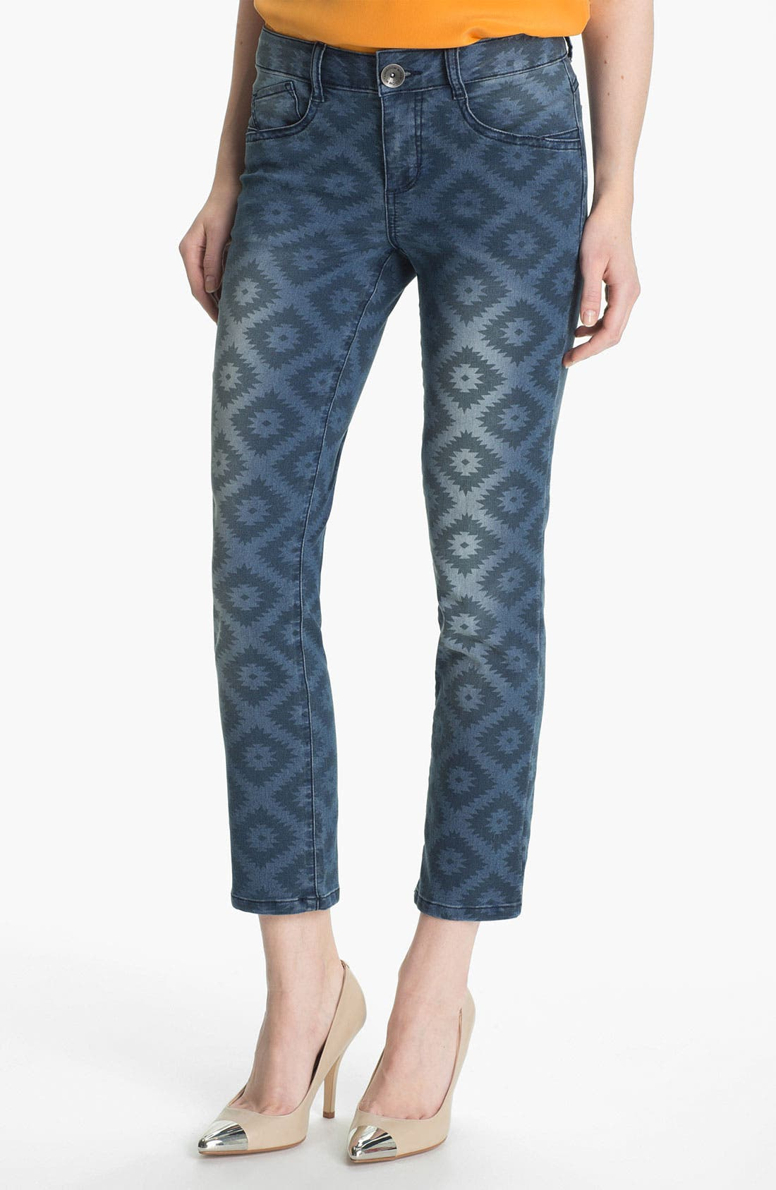 Main Image - Wit & Wisdom Aztec Print Ankle Jeans (Nordstrom Exclusive)
