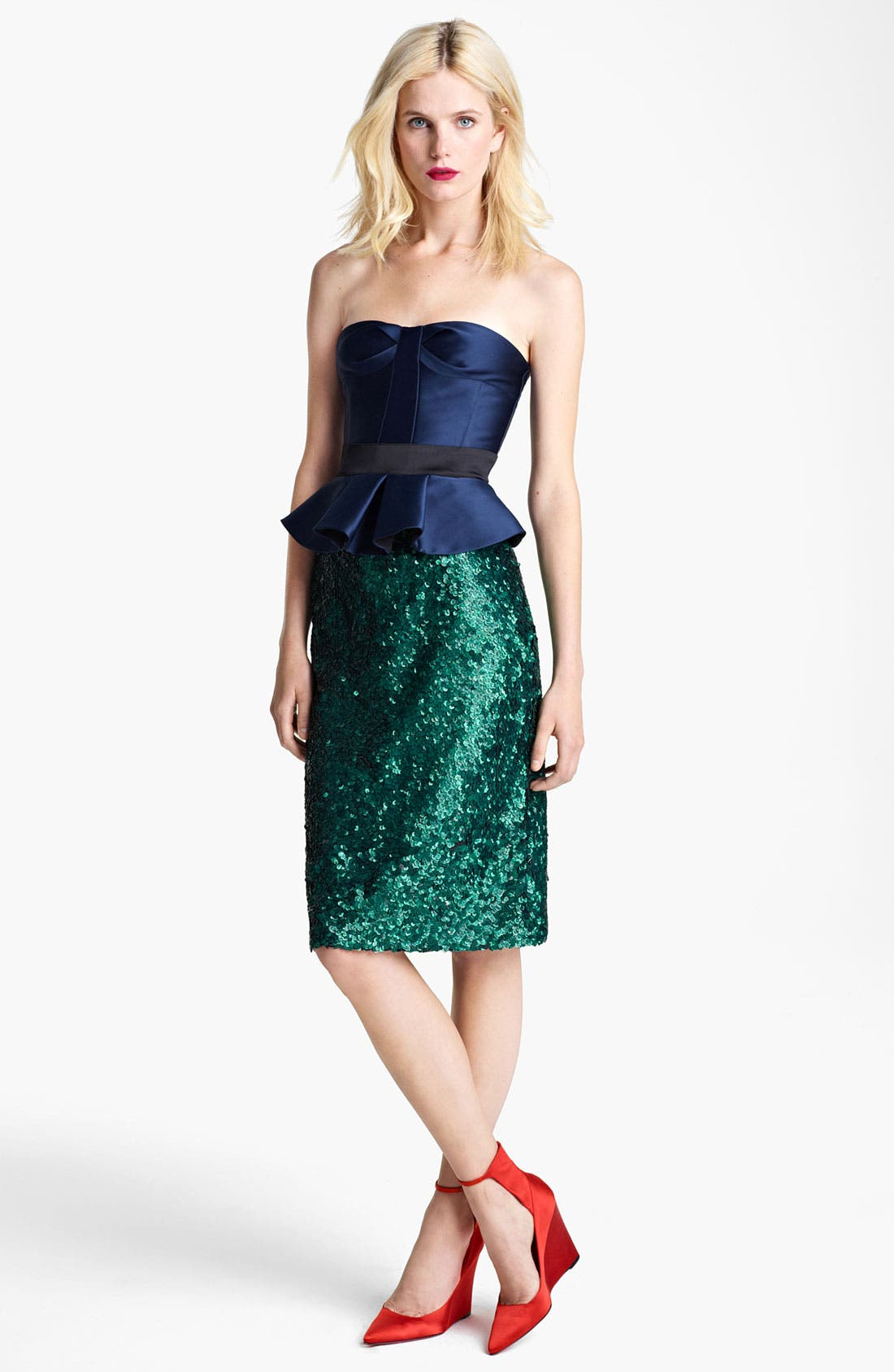 Alternate Image 2  - Burberry Prorsum Sequin Pencil Skirt