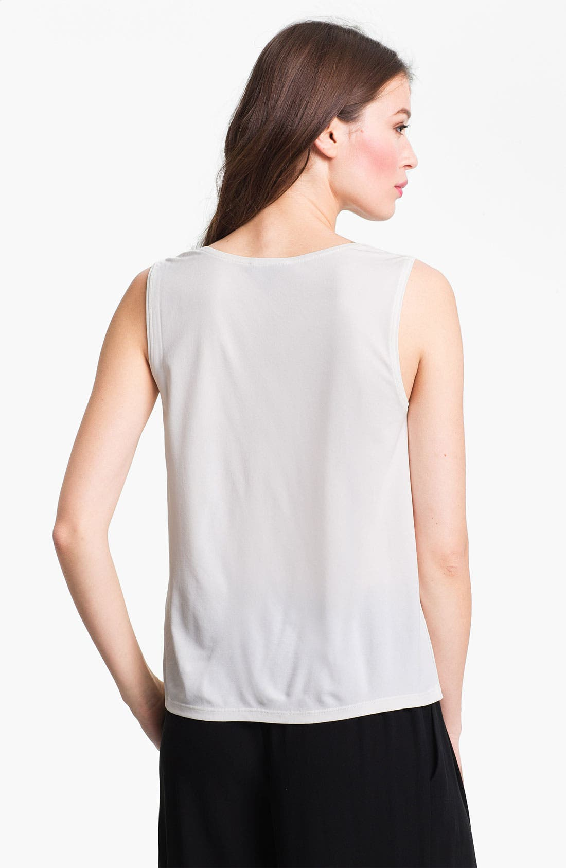 Alternate Image 2  - Eileen Fisher Scoop Neck Silk Tank (Regular & Petite)