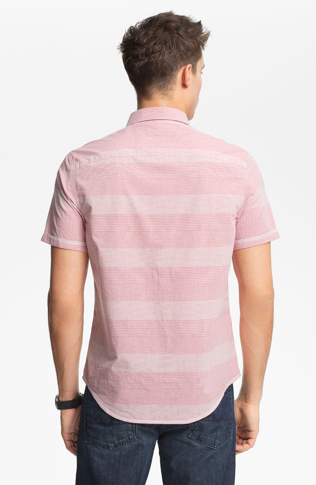 Alternate Image 2  - Original Penguin Classic Fit Stripe Woven Shirt