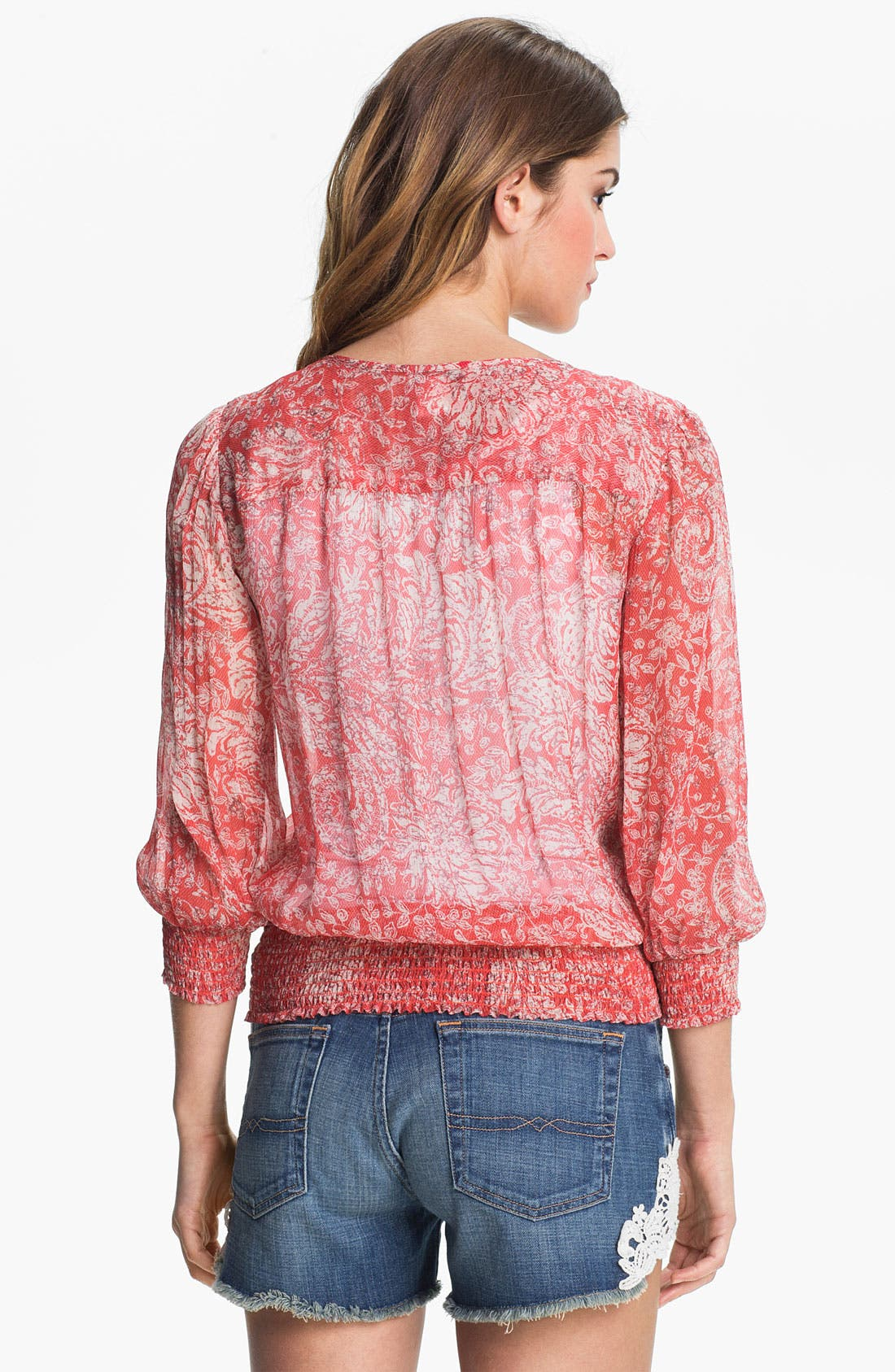 Alternate Image 2  - Lucky Brand 'Palisades - Knotted Flowers' Top (Online Exclusive)