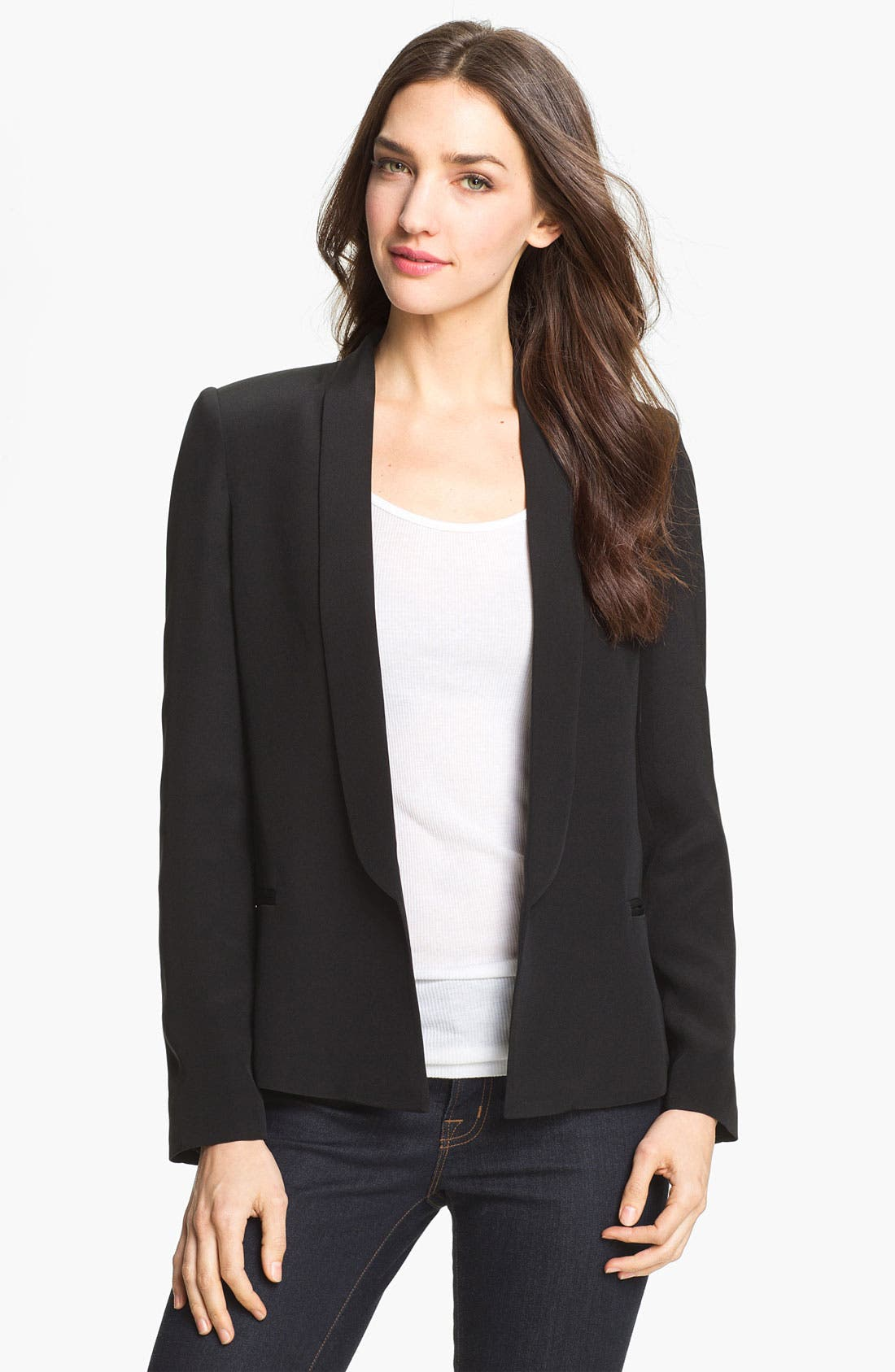 Main Image - Truth and Pride 'Taylor' Shawl Collar Silk Blazer