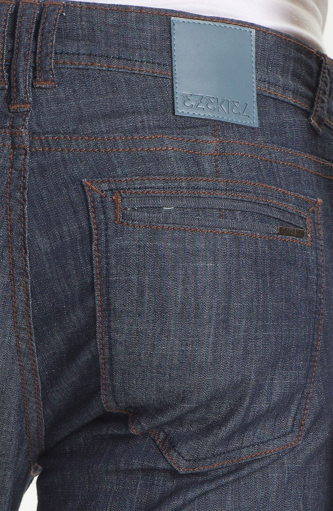 Alternate Image 4  - Ezekiel 'Chopper' Slim Straight Leg Jeans (Dark Indigo)