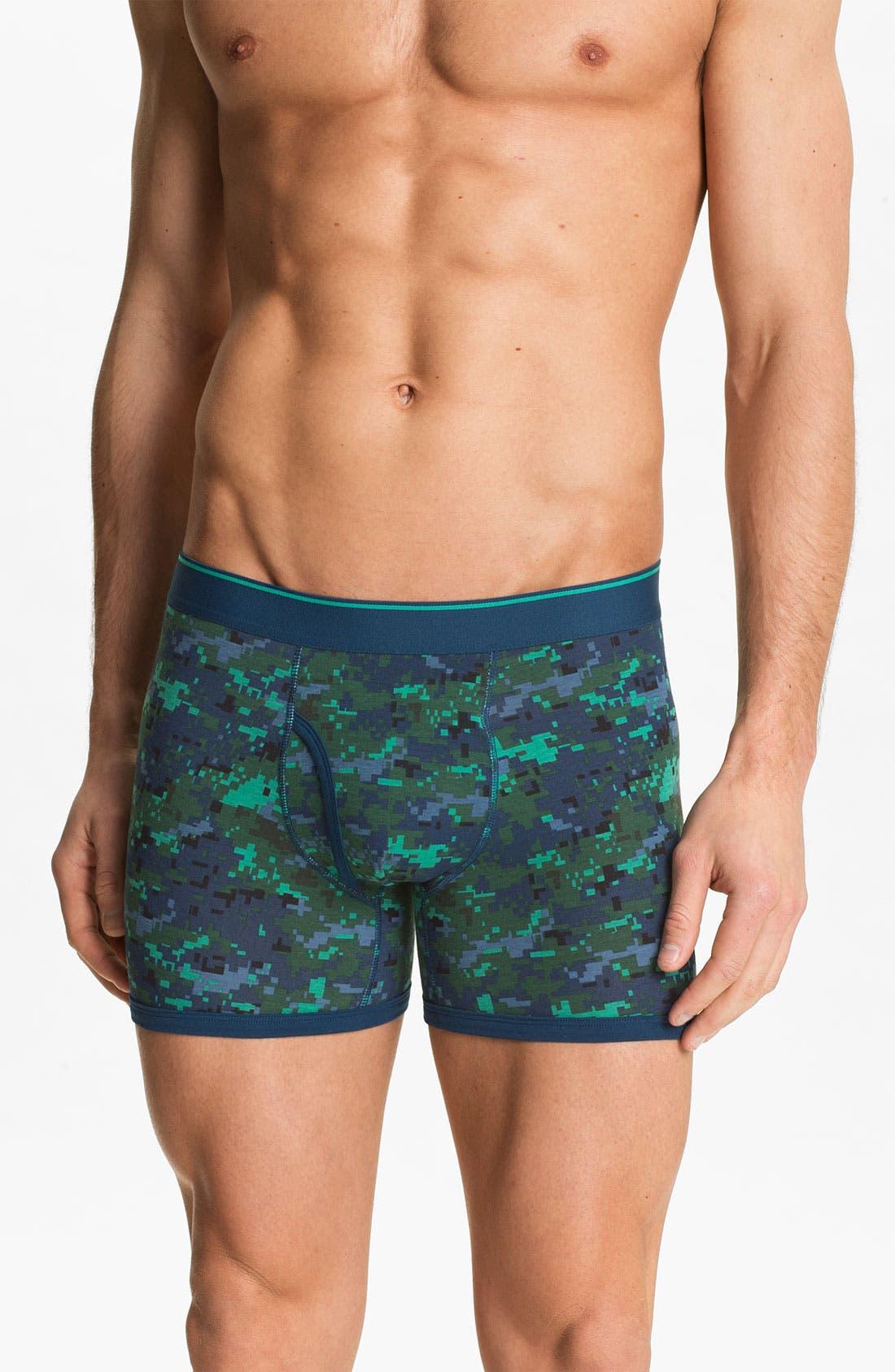 Alternate Image 1 Selected - Basic Underwear Boxer Briefs (3-Pack)