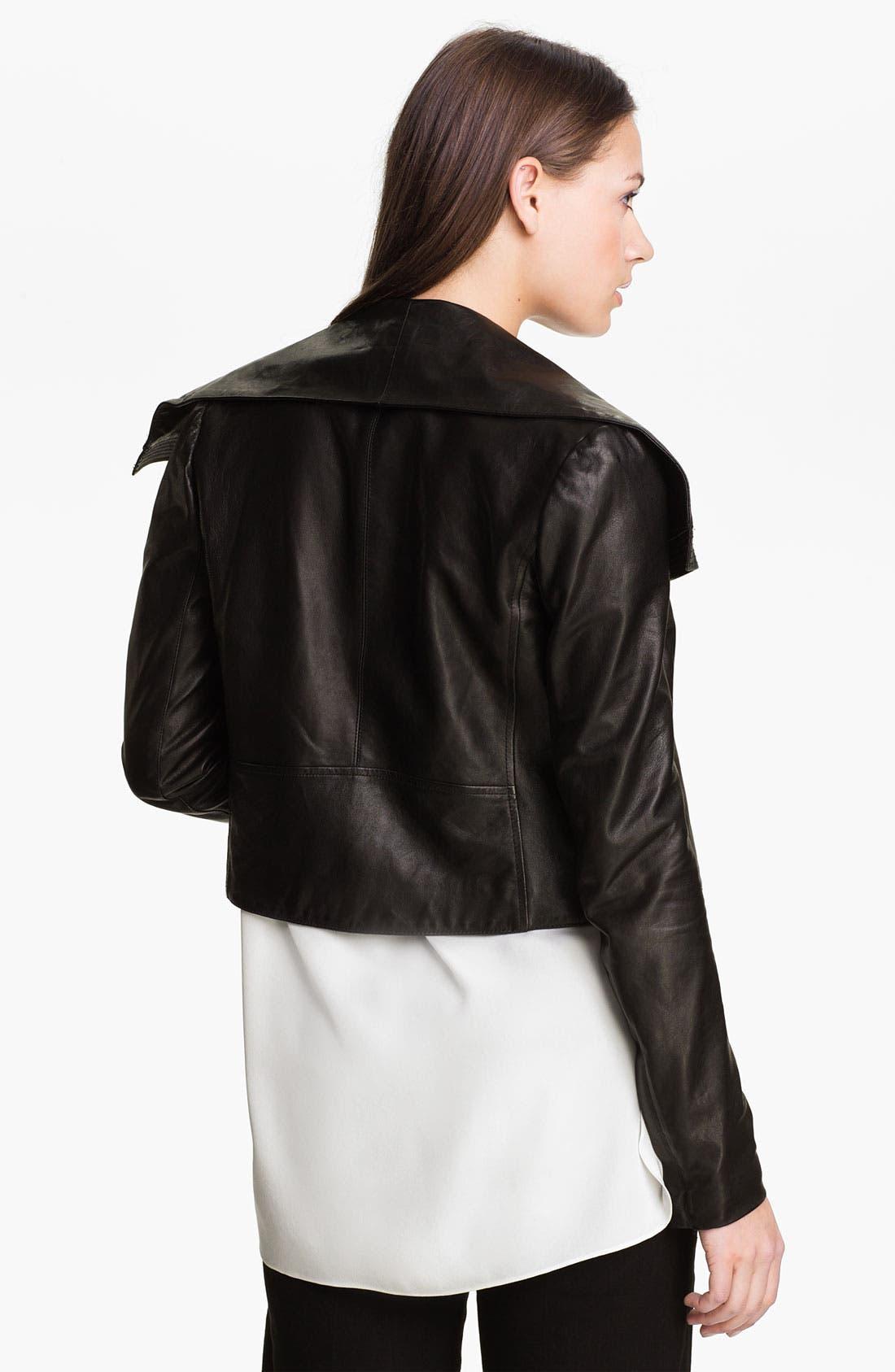 Alternate Image 2  - Vince Asymmetrical Leather Jacket