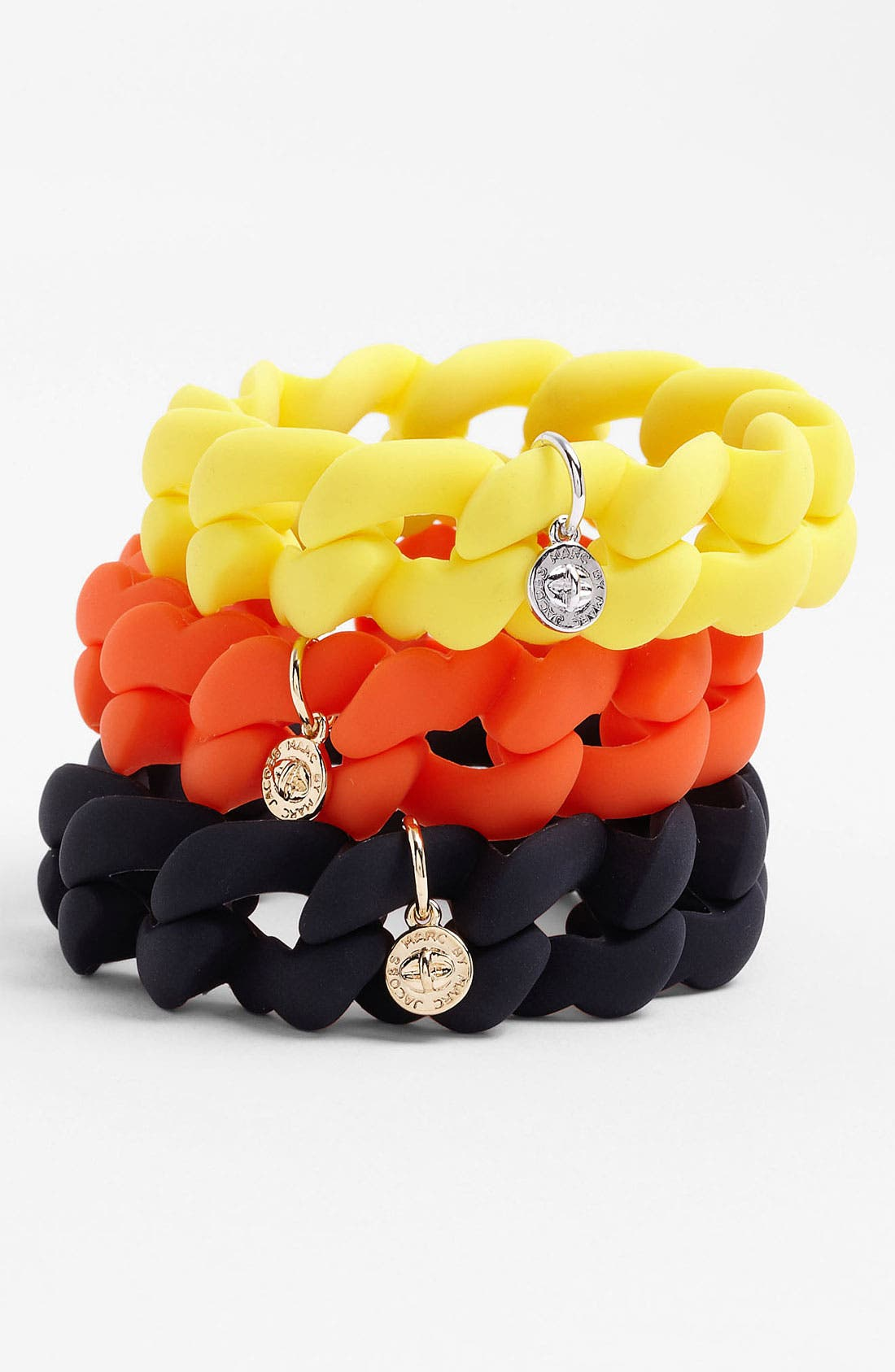 Main Image - MARC BY MARC JACOBS 'Rubber Turnlock - Haute Mess' Stretch Bracelet