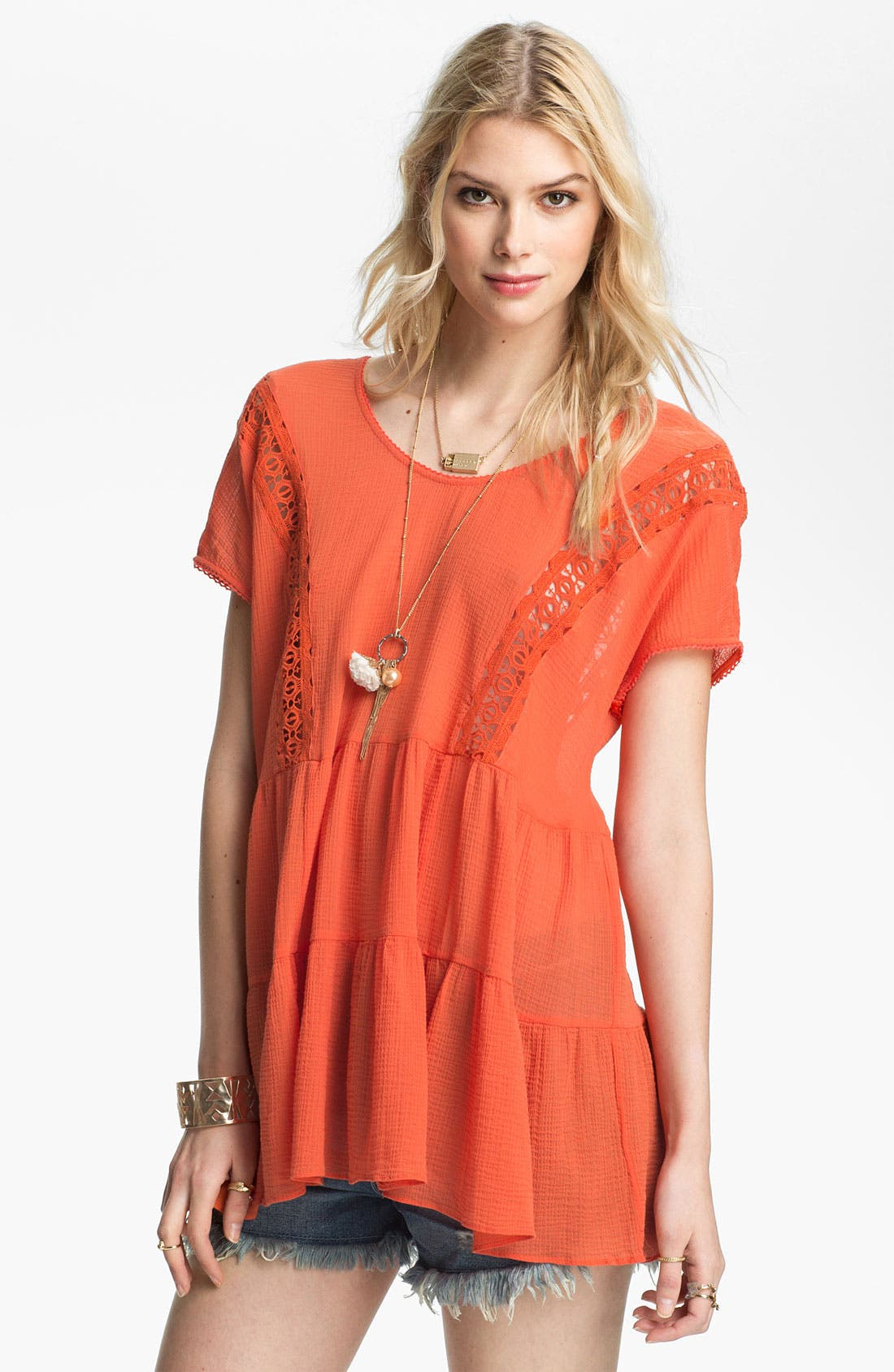 Alternate Image 1 Selected - Free People 'Washed Ashore' Tiered Babydoll Tunic