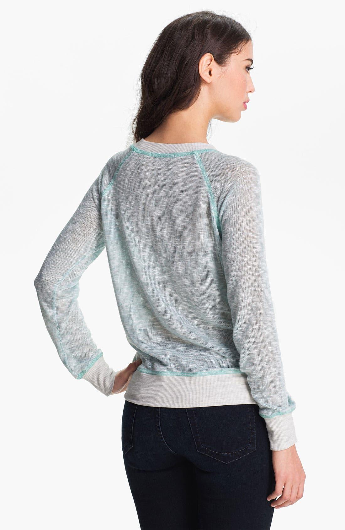 Alternate Image 2  - Olivia Moon Lace Front Sweatshirt