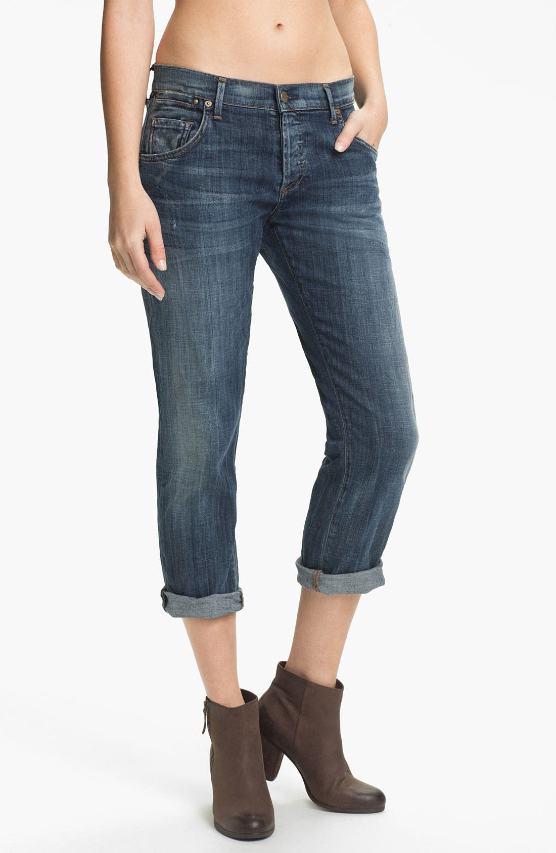 Alternate Image 1 Selected - Citizens of Humanity 'Dylan' Crop Relaxed Fit Jeans (Drama)