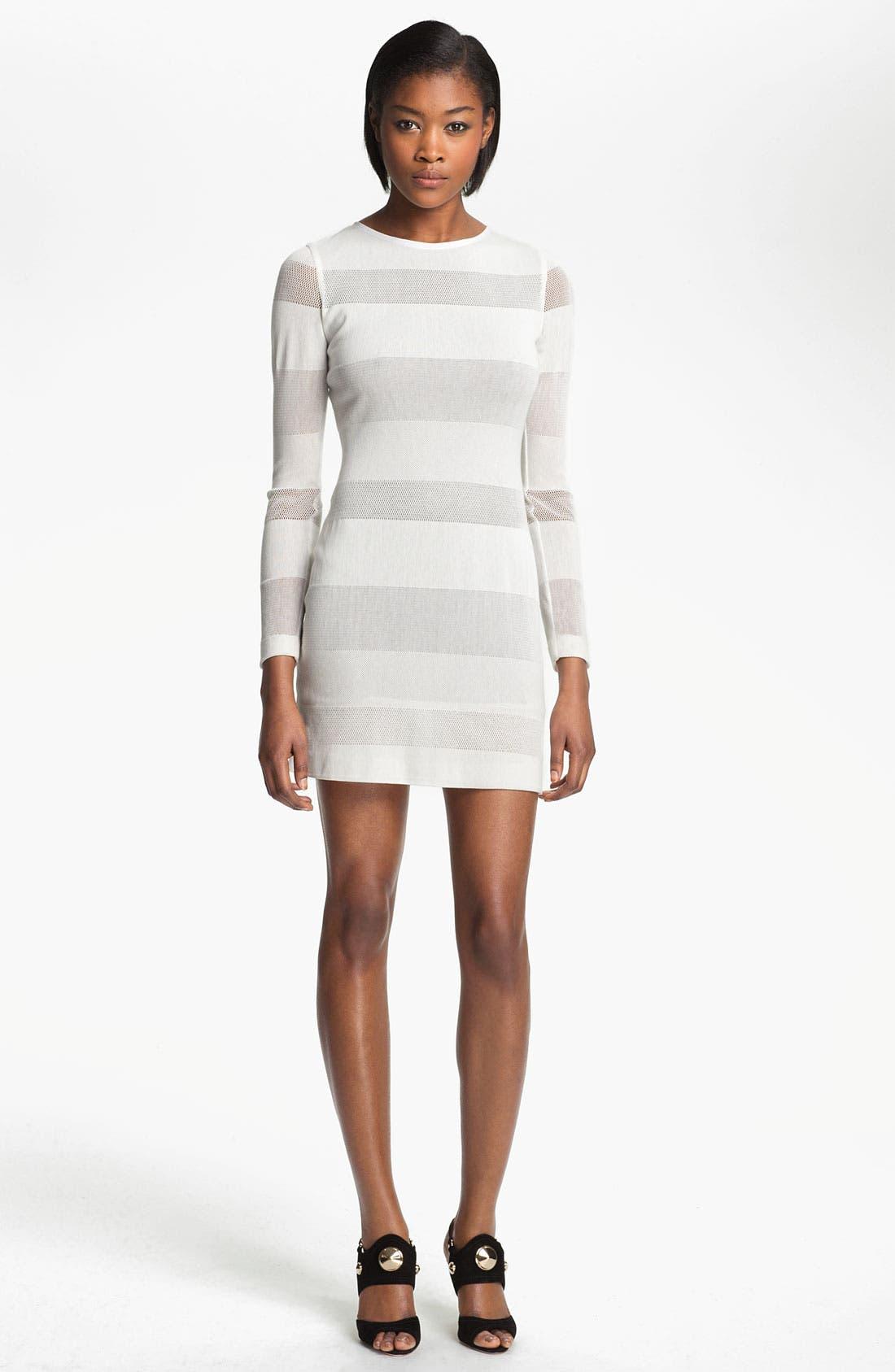Alternate Image 1 Selected - Cut25 Mesh Stripe Dress