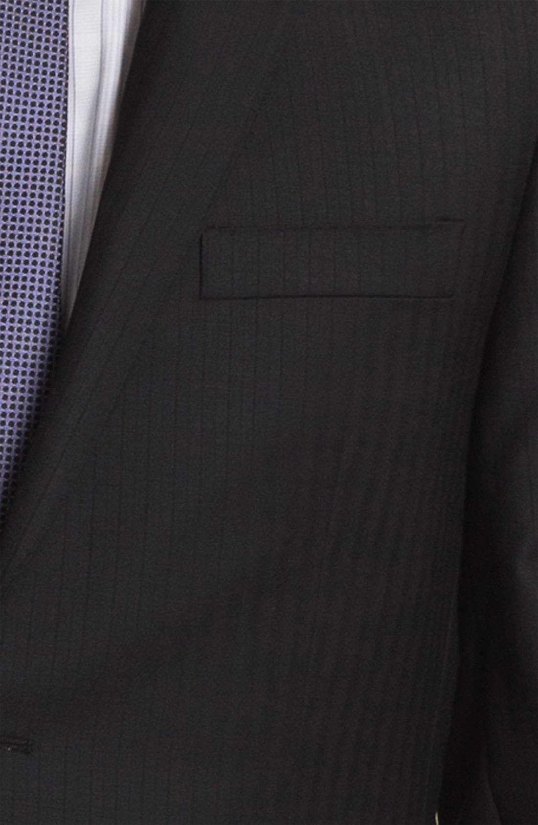 Alternate Image 5  - English Laundry Trim Fit Stripe Suit (Online Only)