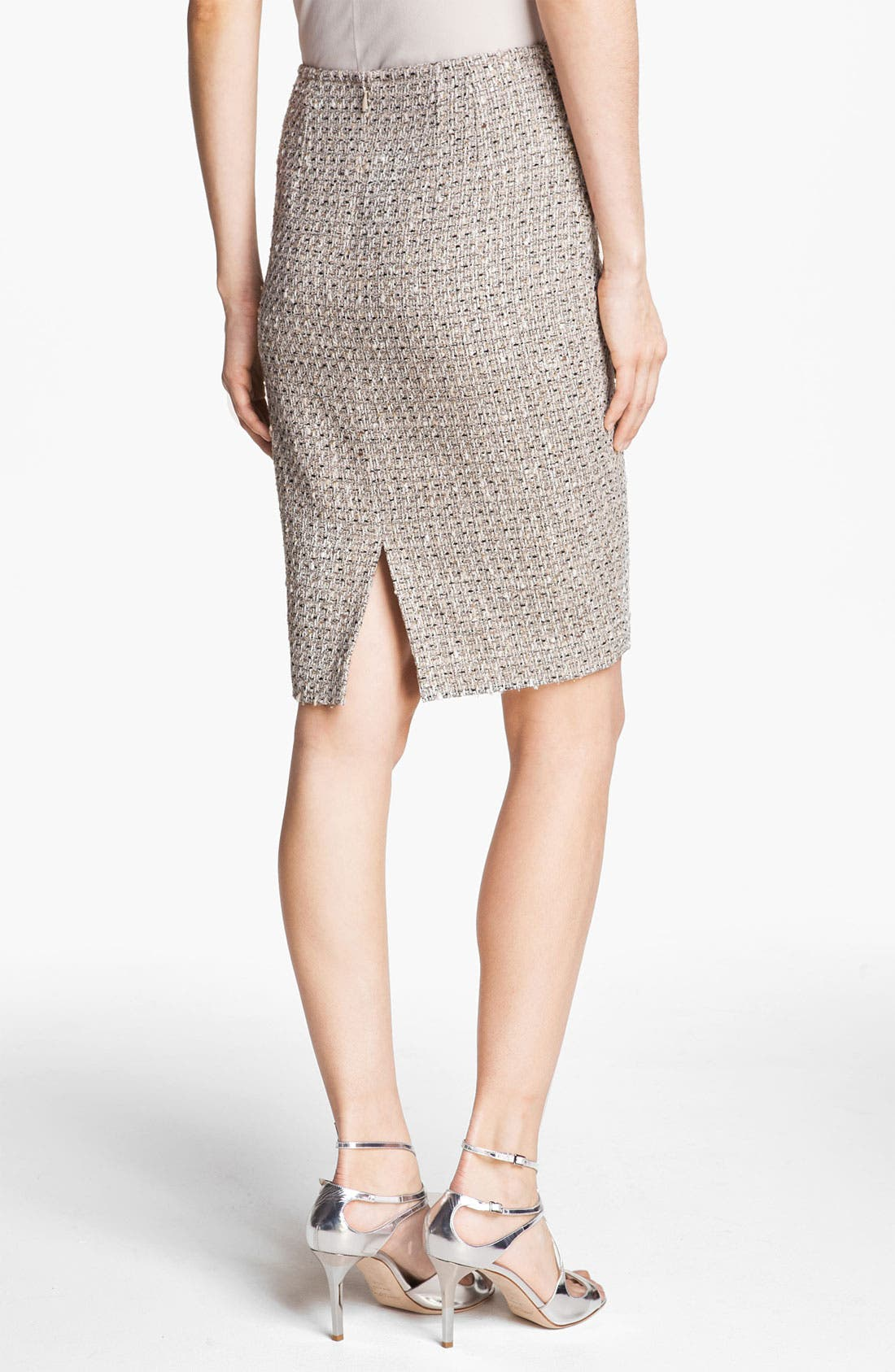 Alternate Image 4  - St. John Collection Speckled Tweed Pencil Skirt