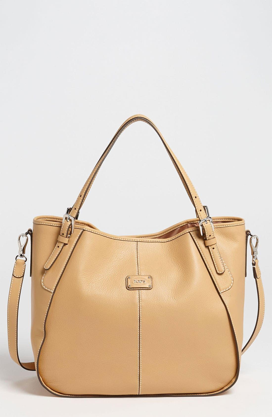 Alternate Image 1 Selected - Tod's 'New G - Medium' Leather Shoulder Bag