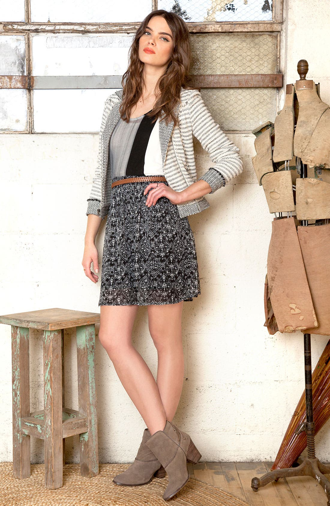 Main Image - Ella Moss Jacket, Tee & Skirt