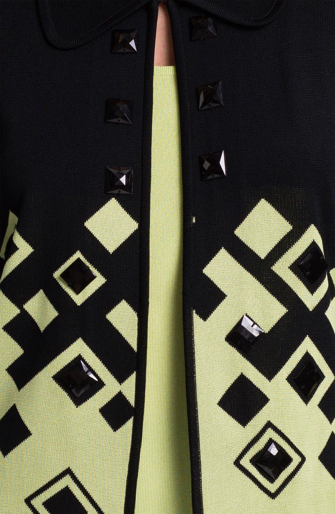 Alternate Image 3  - Ming Wang Three Quarter Sleeve Short Jacket