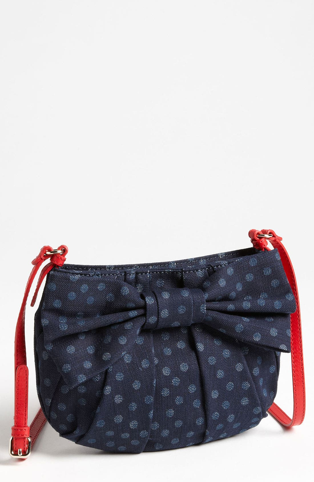 Alternate Image 1 Selected - RED Valentino 'Bow' Denim Crossbody Bag