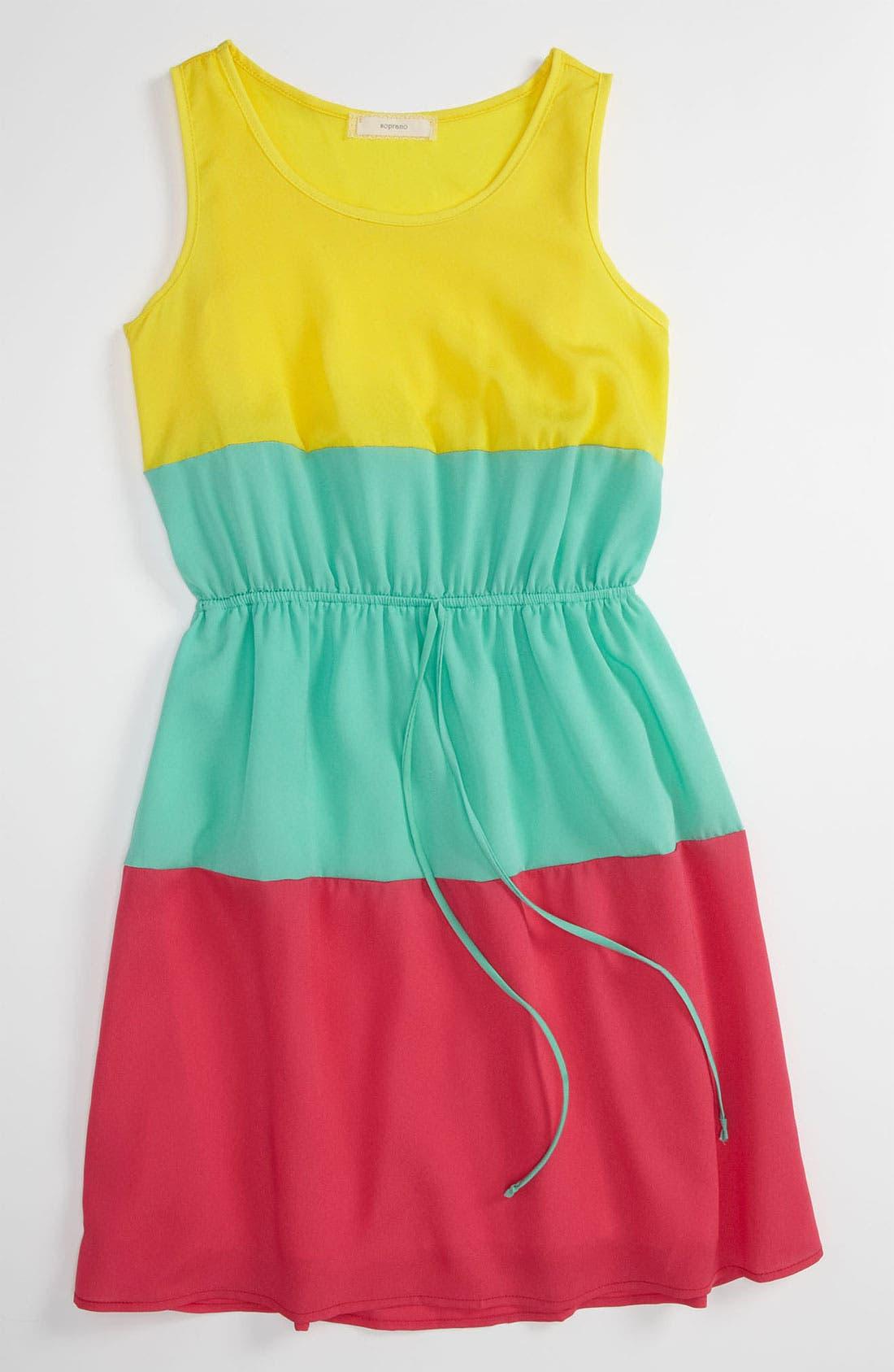 Alternate Image 1 Selected - Soprano Colorblock Dress (Little Girls & Big Girls)