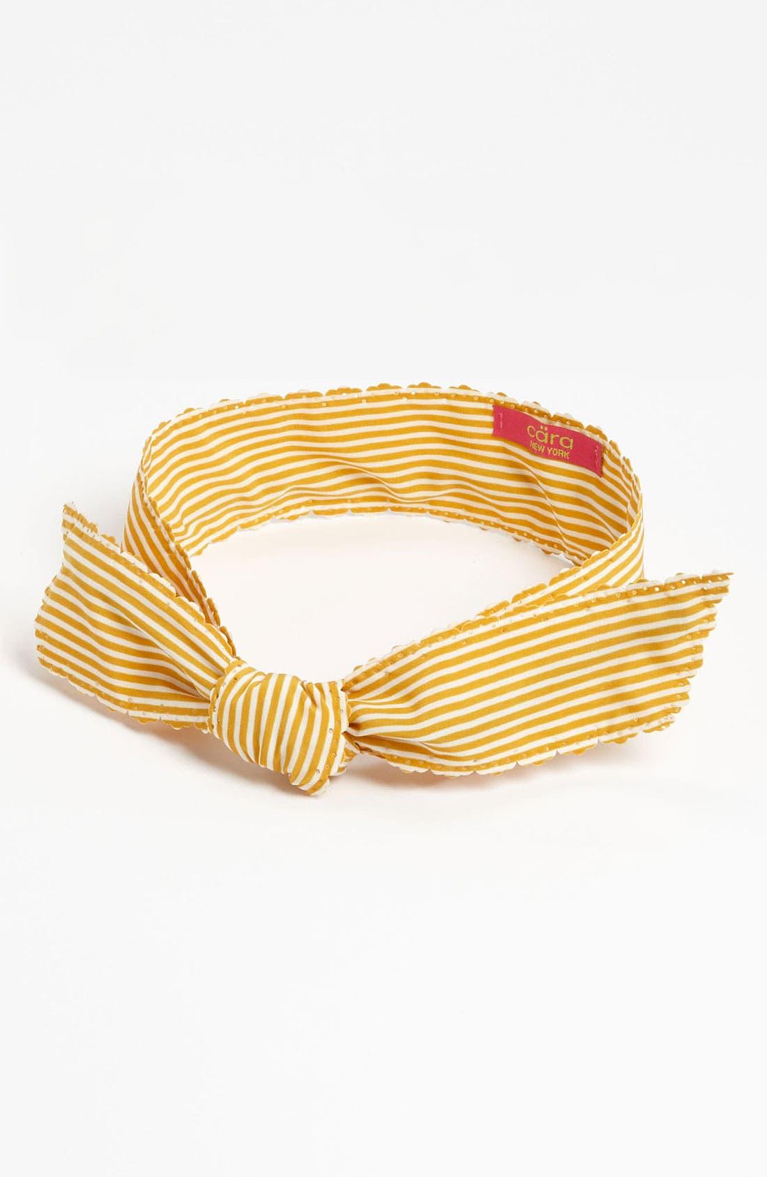 Alternate Image 1 Selected - Cara Perforated Stripe Head Wrap