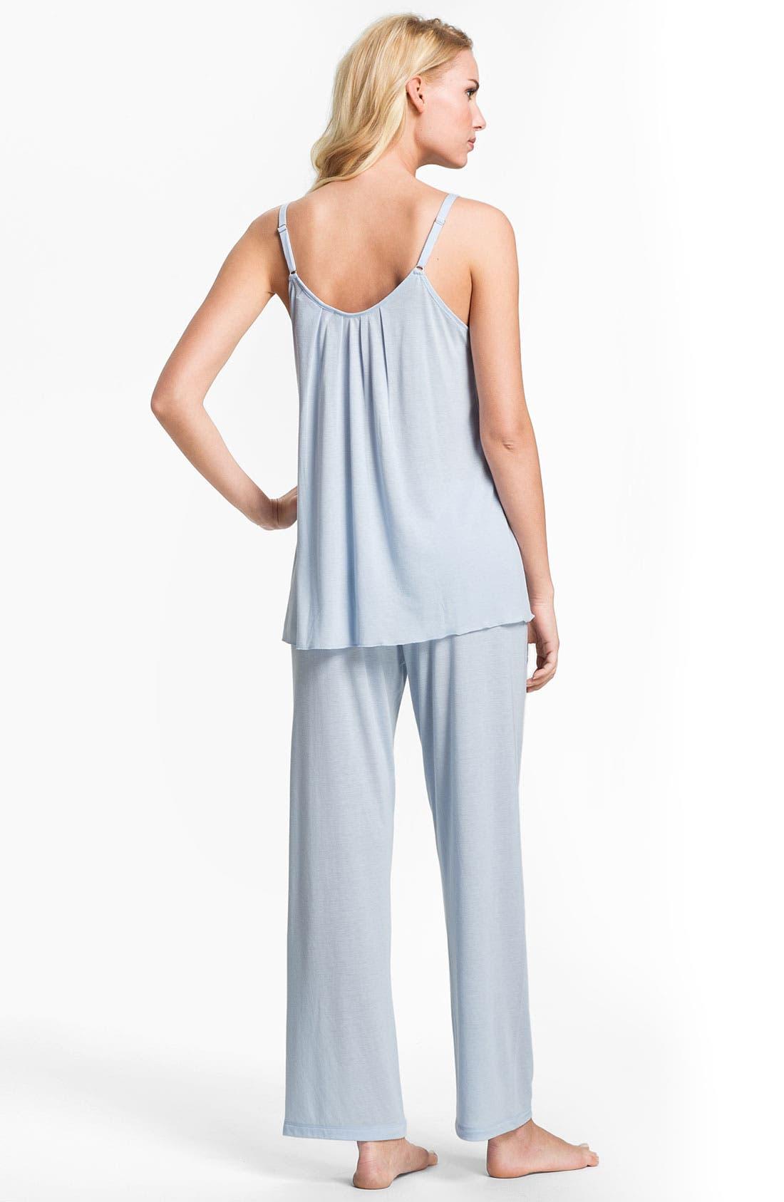 Alternate Image 2  - Oscar de la Renta Sleepwear 'Animal Blossom' Pajamas