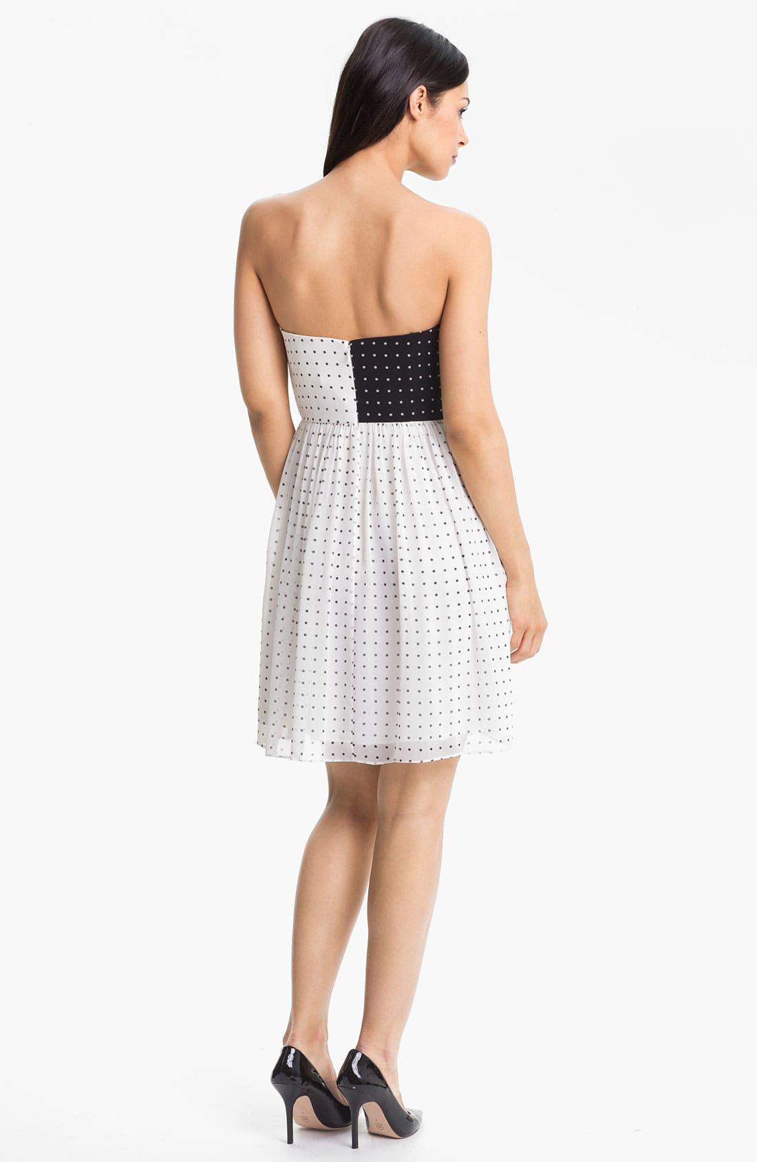 Alternate Image 2  - Donna Morgan Colorblock Polka Dot Dress