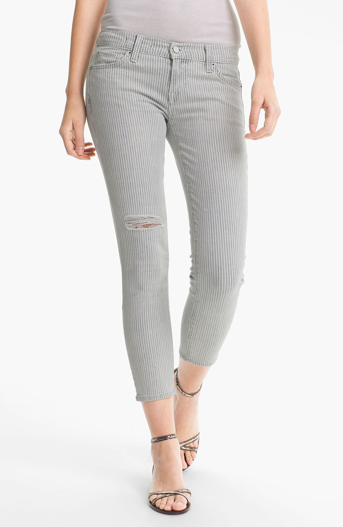 Main Image - TEXTILE Elizabeth and James 'Ozzy' Conductor Stripe Stretch Jeans