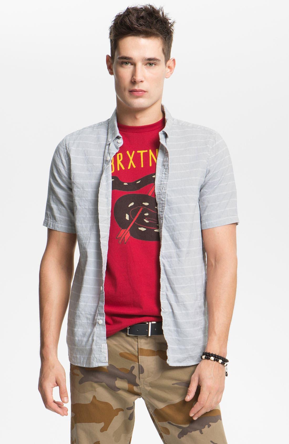 Main Image - VSTR 'Border' Stripe Woven Shirt