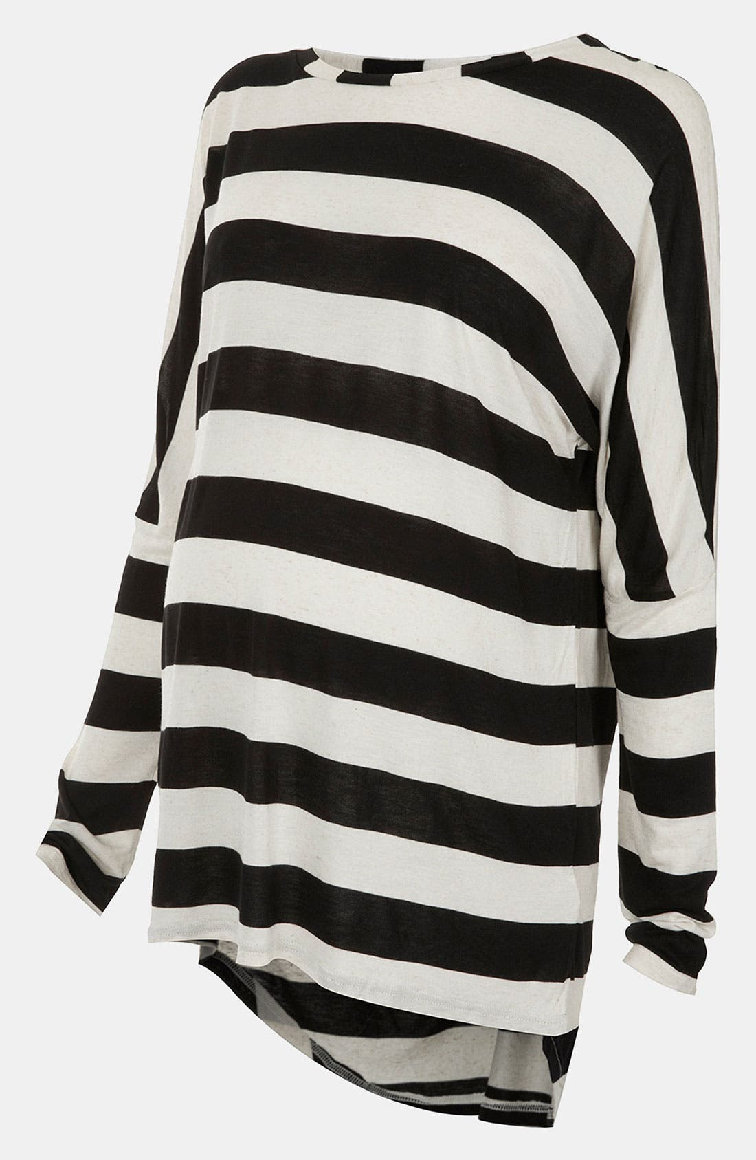 Alternate Image 1 Selected - Topshop Stripe Slubbed Maternity Top