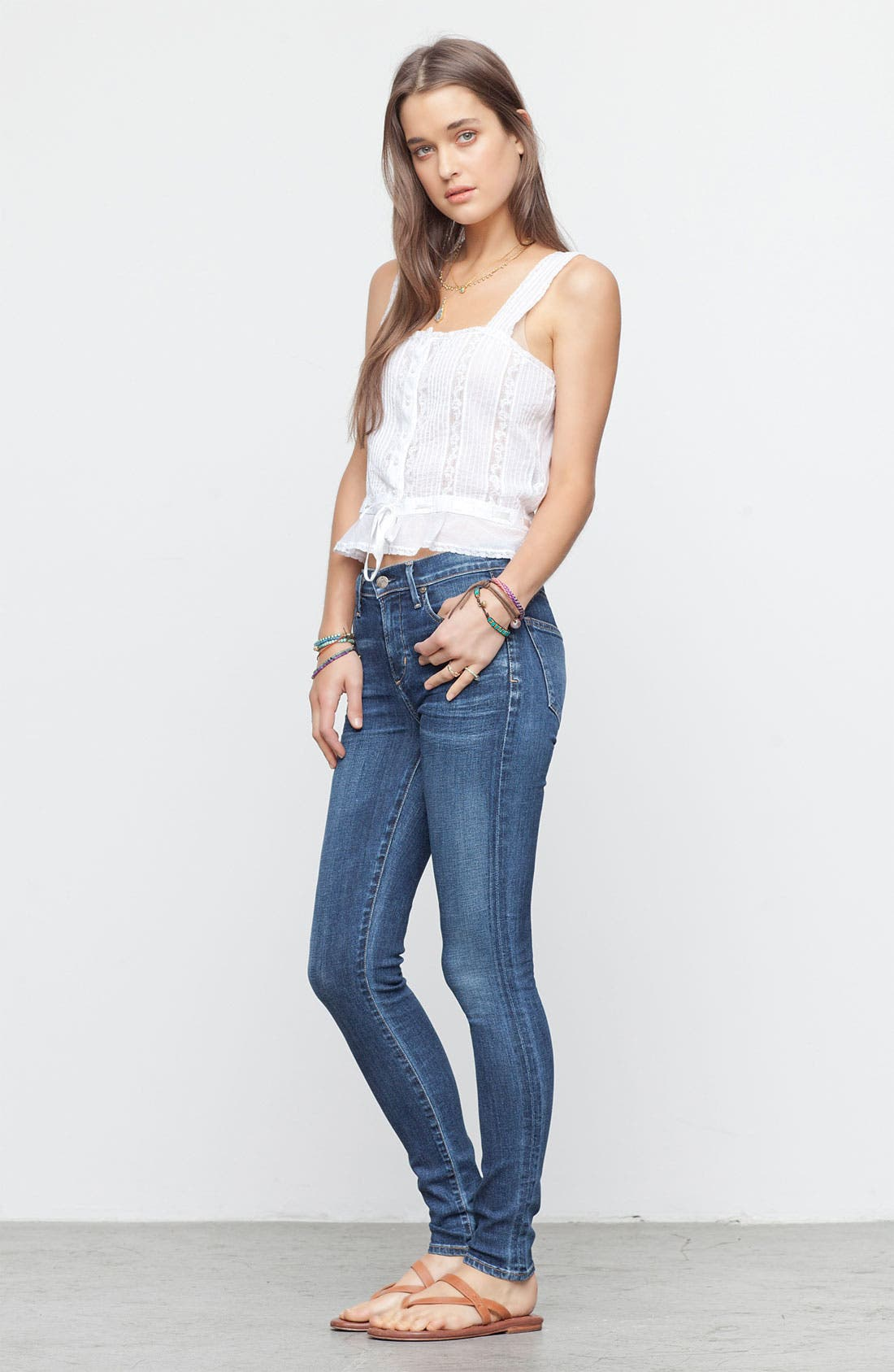 Alternate Image 1 Selected - Citizens of Humanity Jeans & Free People Tank
