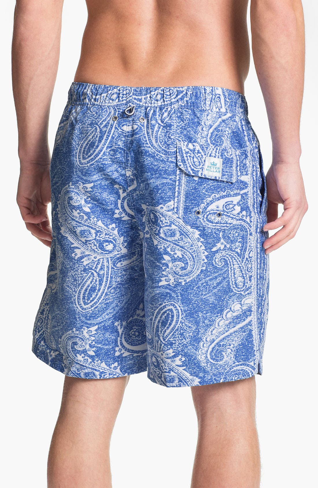 Alternate Image 2  - Peter Millar 'Capri' Paisley Swim Trunks