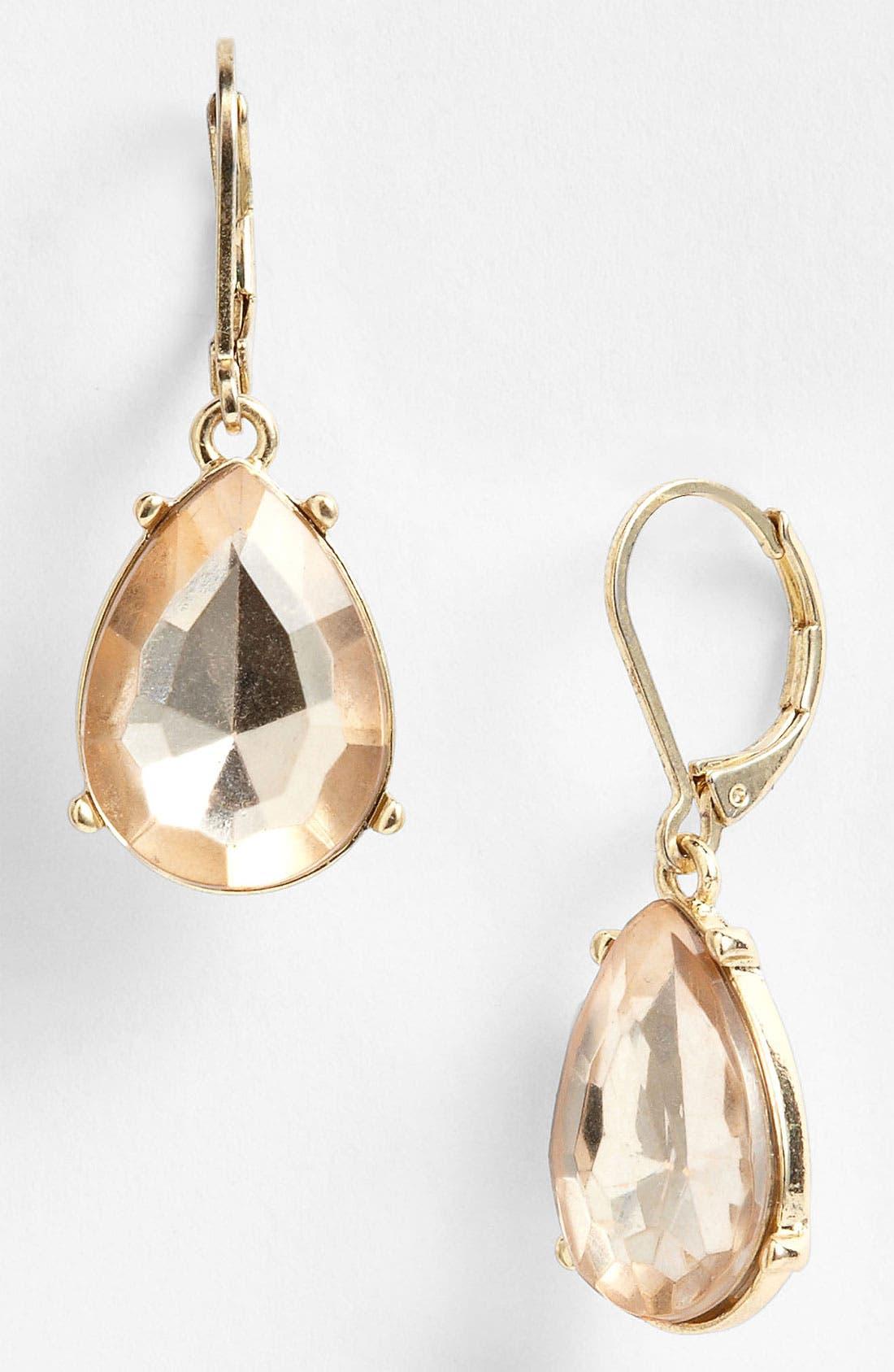 Alternate Image 1 Selected - Anne Klein Teardrop Earrings