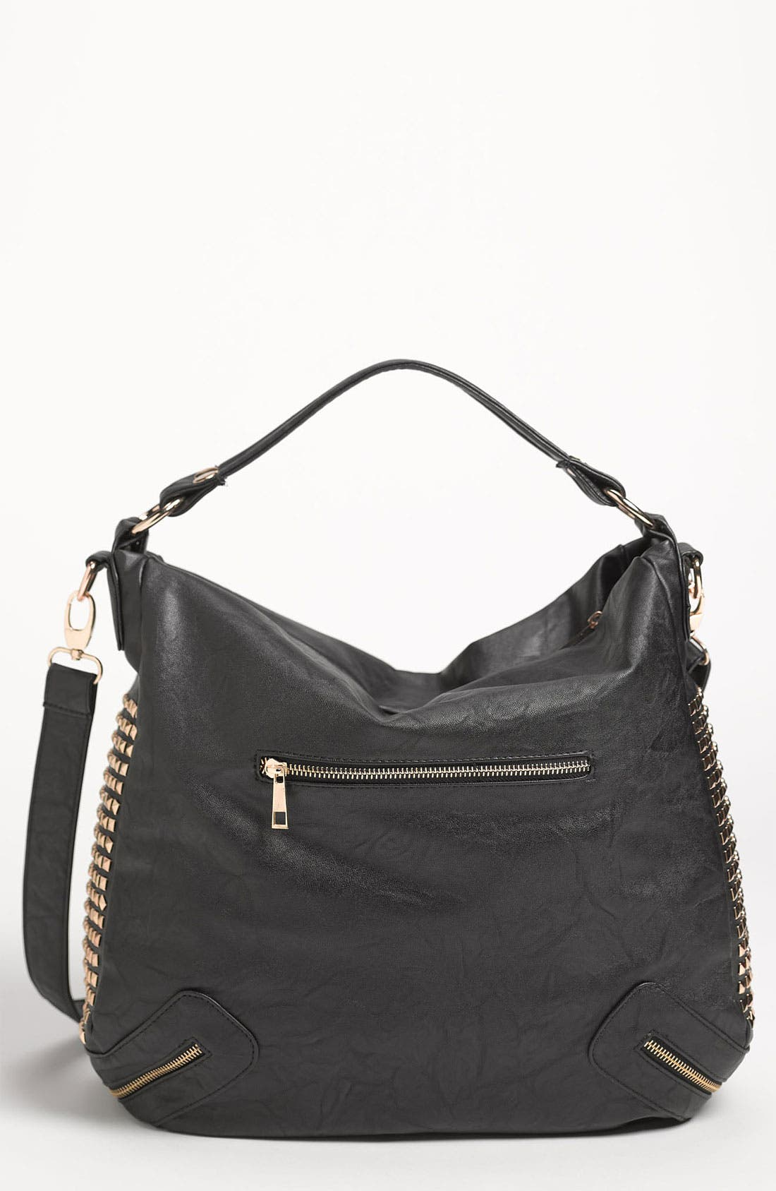 Main Image - Top Choice Studded Convertible Hobo Bag
