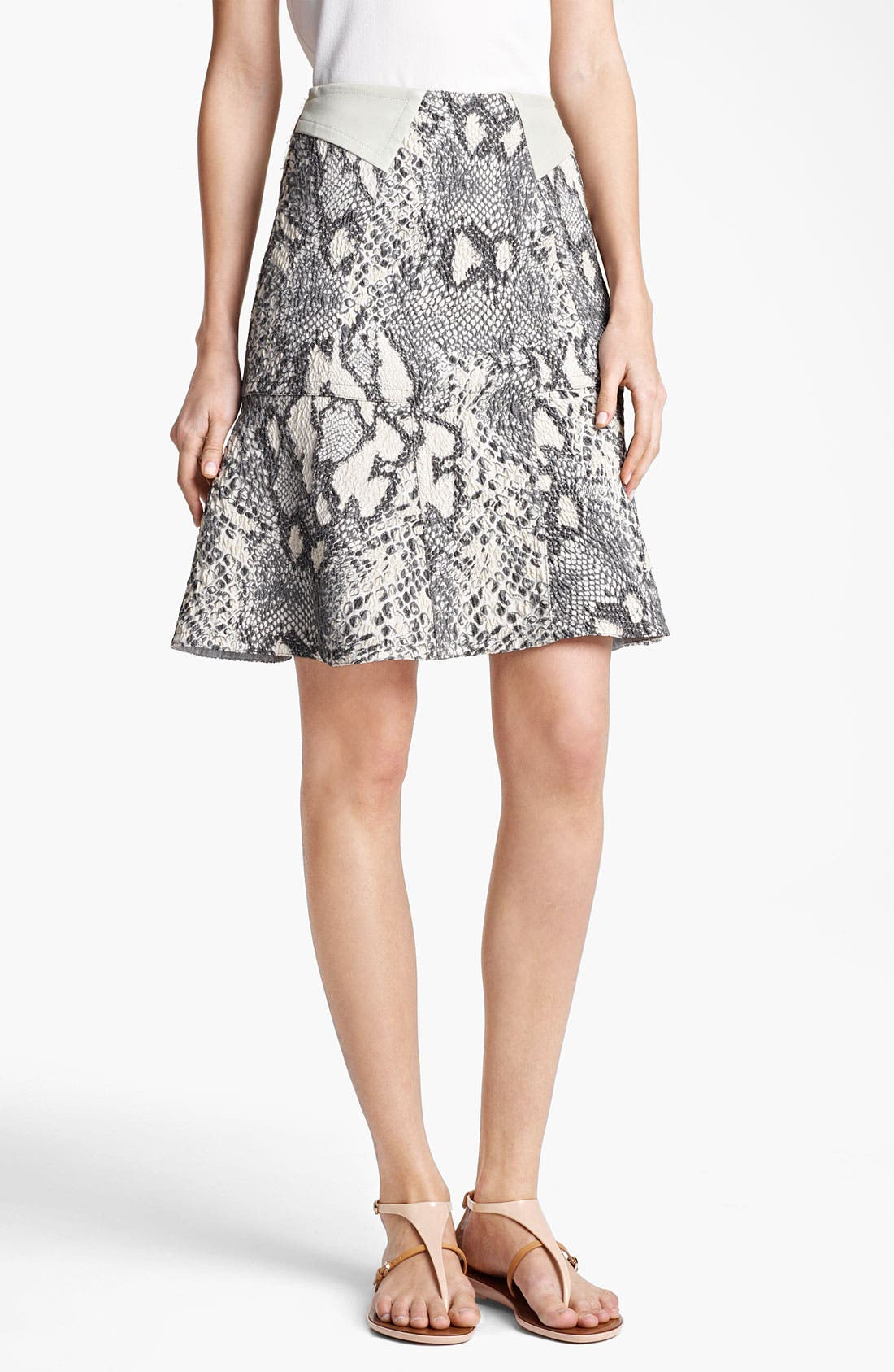 Alternate Image 1 Selected - Yigal Azrouël Jacquard Skirt