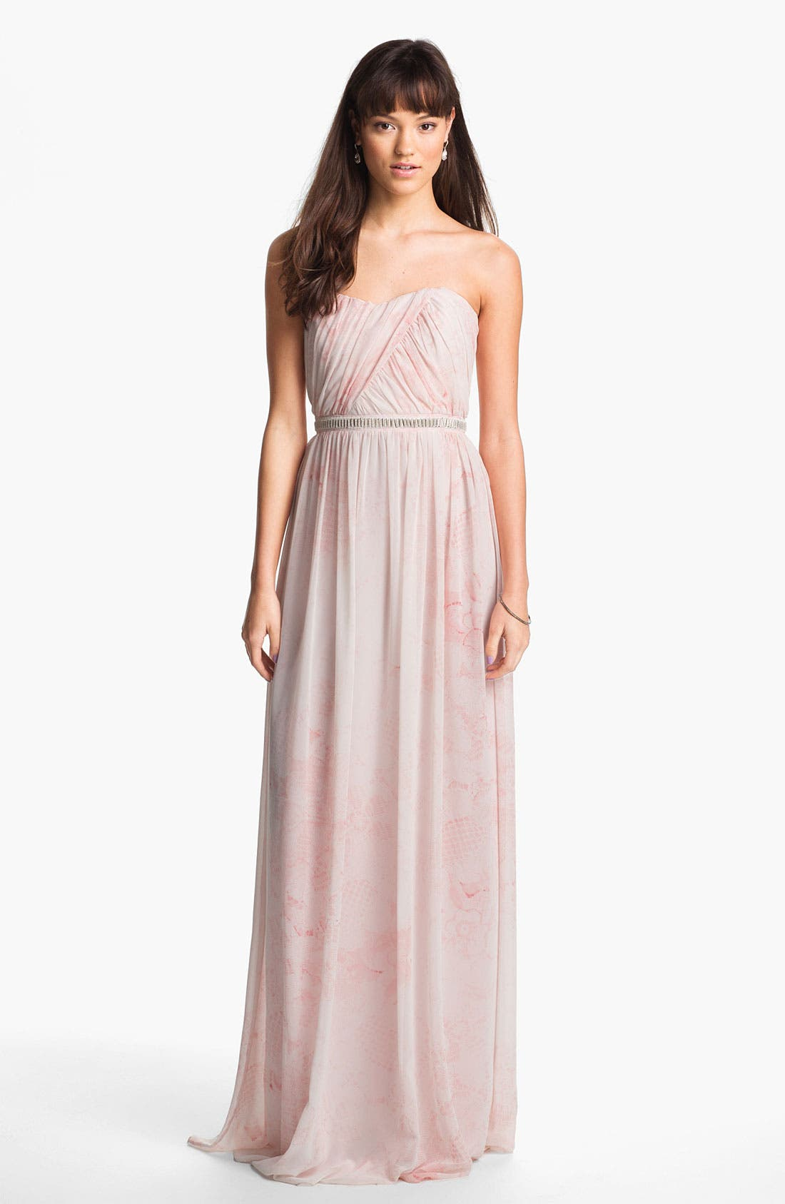 Main Image - ERIN erin fetherston 'Cross Heart' Embellished Chiffon Gown