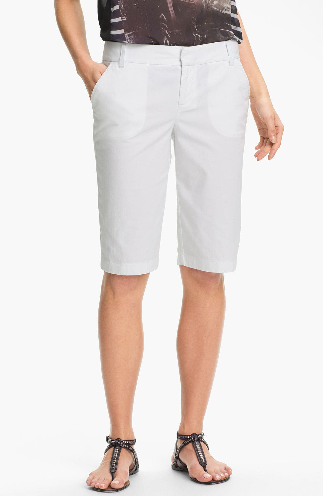 Main Image - Caslon® Twill Bermuda Shorts (Regular & Petite)