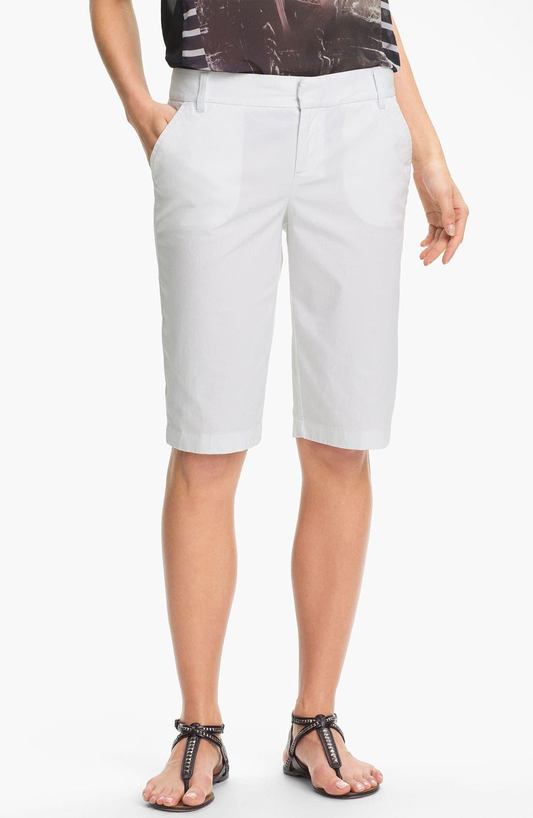 Main Image - Caslon® Twill Bermuda Shorts (Petite)