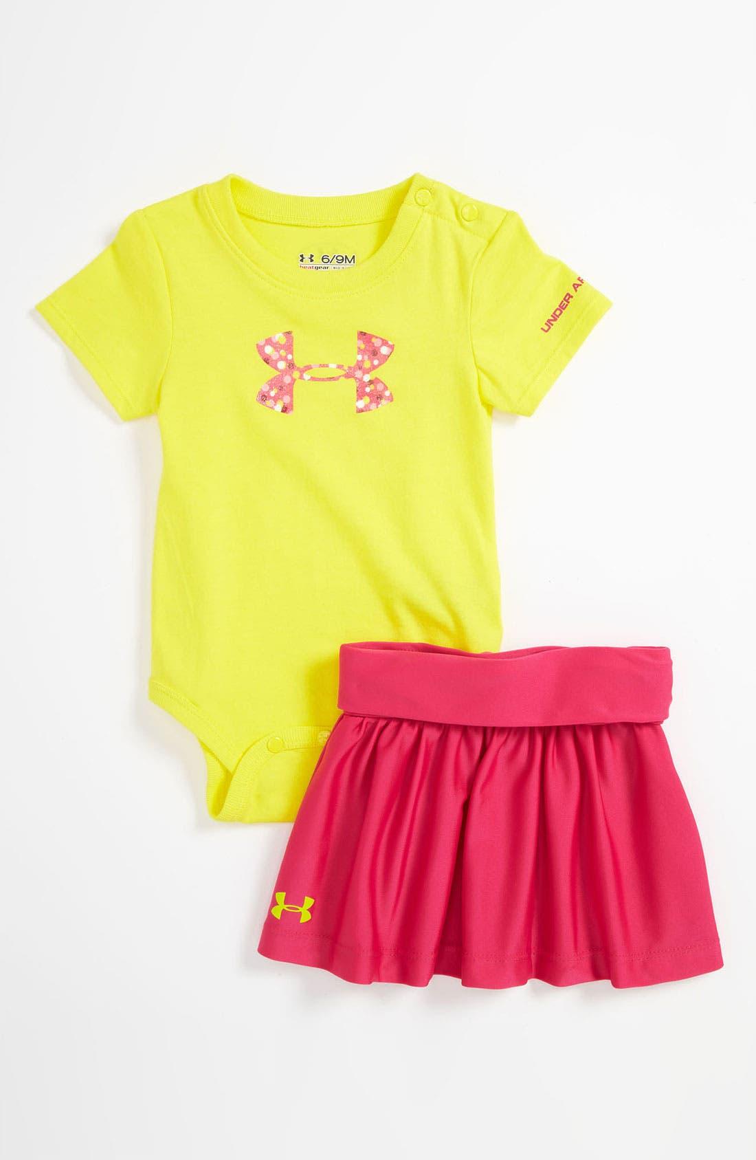 Alternate Image 1 Selected - Under Armour Bodysuit & Skirt (Infant)