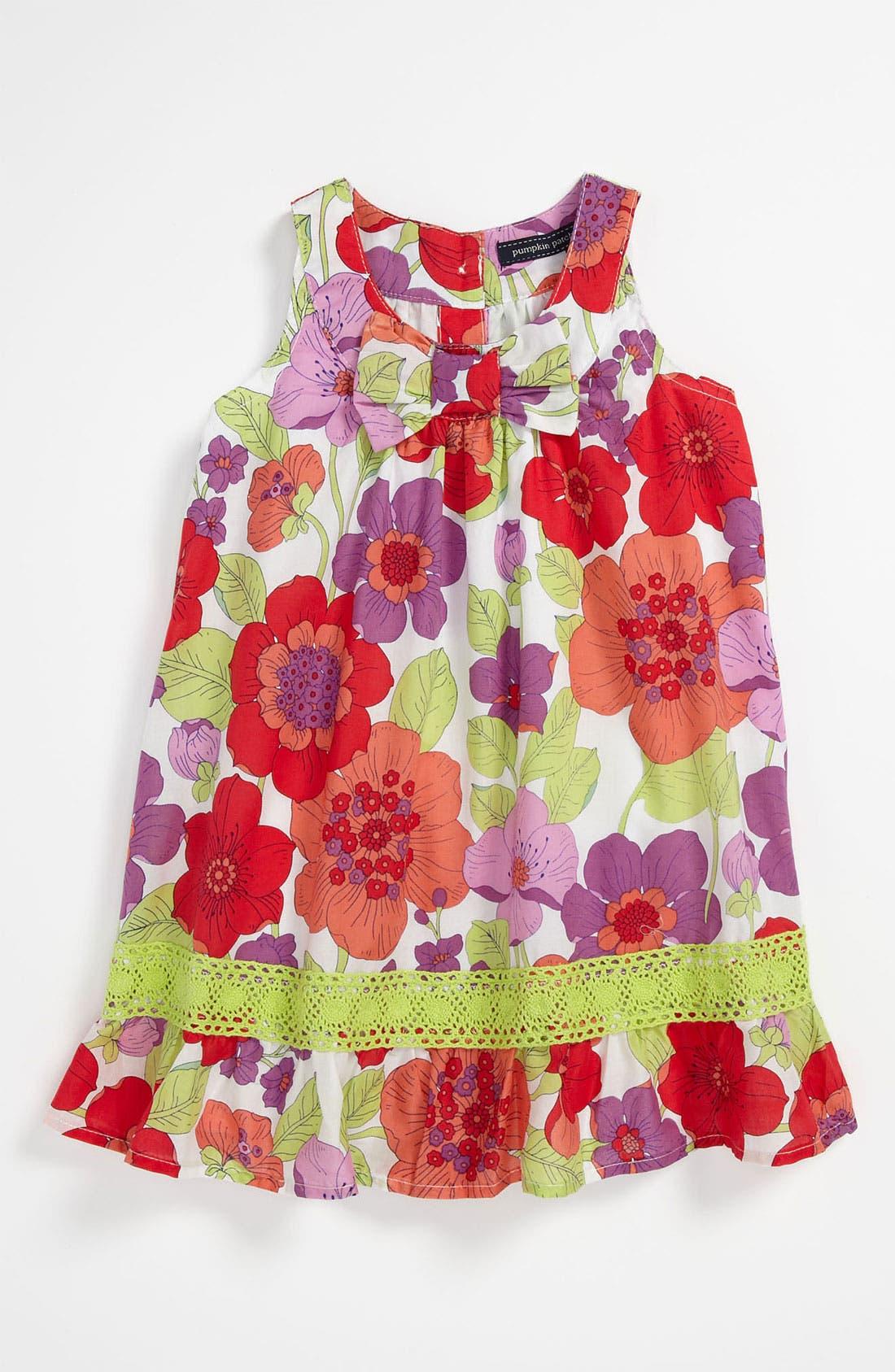 Main Image - Pumpkin Patch Floral Dress (Infant)