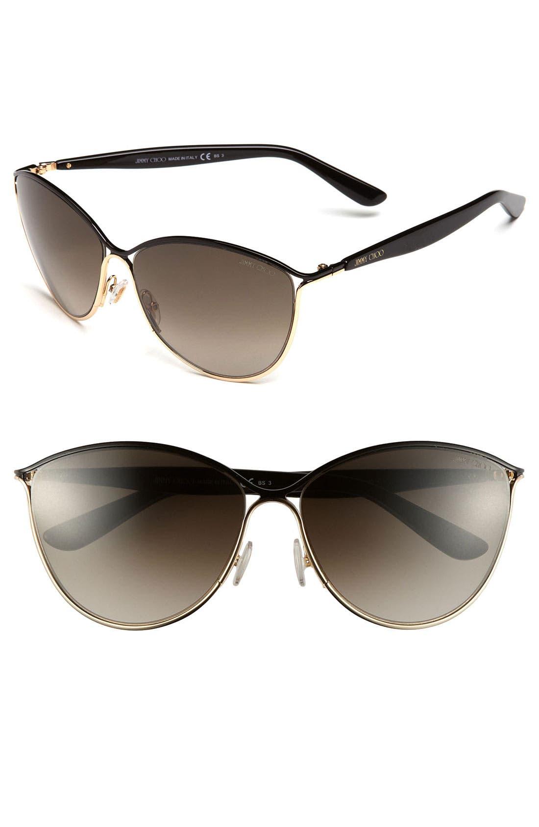 Main Image - Jimmy Choo 'Tanis' 59mm Cat's Eye Sunglasses